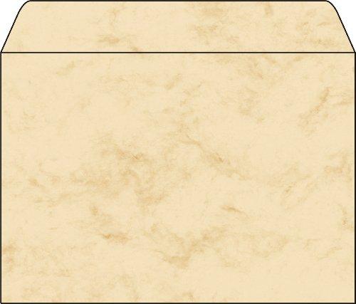 Preisvergleich Produktbild Sigel DU203 Briefumschläge Marmor beige, C5, 25 Stück, gummiert