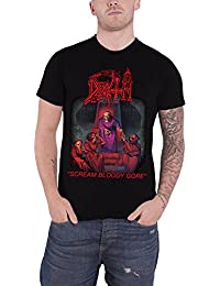 Death T Shirt Scream Bloody Gore Logo Album Cover Official Mens Black