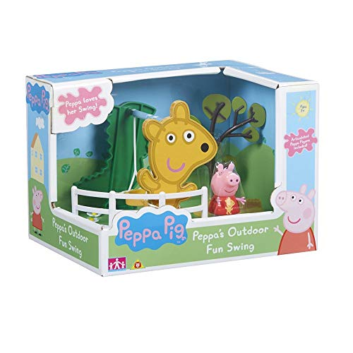 Peppa Pig - Les Balançoires de Peppa - Décor + 1 Mini Figurine