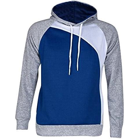 Hombres Sudadera, Amlaiworld La chaqueta encapuchada caliente de la capa del suéter Outwear (L, Azul)