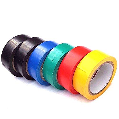 Sourcingmap Isolierband für Elektrische Leuchtmittel, Isoliert, 8 m,, 6 Stück