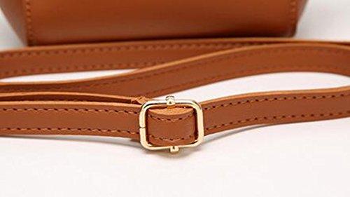 MeiliYH Weibliche Leder Messenger Pack Mini Pack Suet Schultertasche weiß