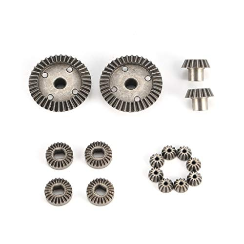 CHANNIKO-DE 12 T 15 T 24 T 38 T Metall Vorne Hinten Differential / Motor Fahrwerk Upgrade Teile Zwei Sätze für WLtoys A949 A959 1/18 RC Auto -