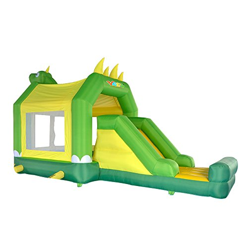 YARD Dinosaur Bounce House with Cover for Kids with Slide Inflatable Bouncy Castle Outdoor Trampoline