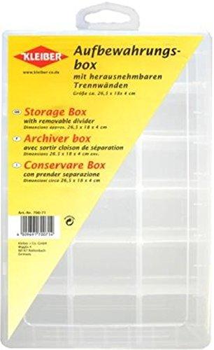 Kleiber - Aufbewahrungsbox für Garn/Knöpfe mit entfernbarer Trennvorrichtung aus Kunststoff