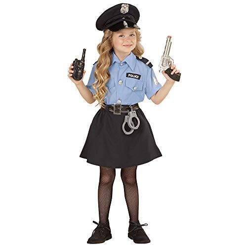 Polizist Mädchen Kostüm - Widmann 04008 Kinderkostüm Polizistin, Mädchen, Blau, 158
