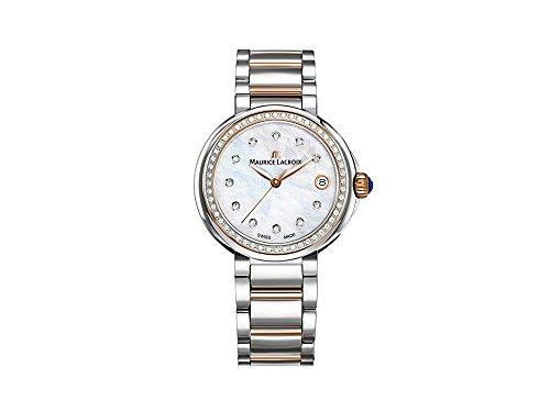 Maurice Lacroix Fiaba Round FA1007-PVP23-170-1 Reloj de Pulsera para mujeres con diamantes genuinos