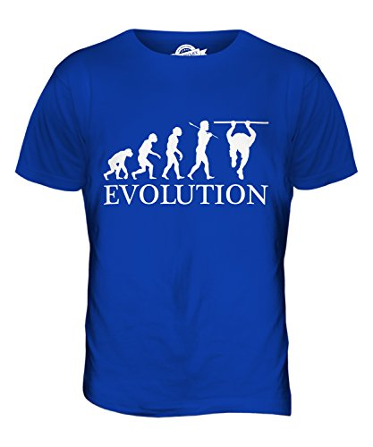 CandyMix Calisthenics Evolution Des Menschen Herren T Shirt Königsblau