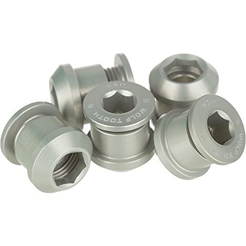 dent de loup composants Boulons/Écrous pour 1x, mixte, Silver