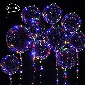 ns, 10 Stück Helium Balloon Gas Leucht Luftballon Weiss Zuhause Dekoration Zum Party Hochzeit Weihnachten Festival ()