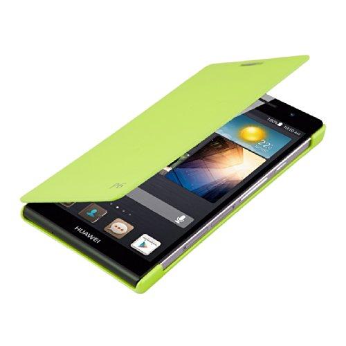 kwmobile Flip Case Hülle für Huawei Ascend P6 - Aufklappbare Schutzhülle Tasche im Flip Cover Style in Grün