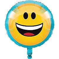 "Creative Convertting Foil Balloon 18""-45cm-Emoji, Multicoloured, 8C322179"