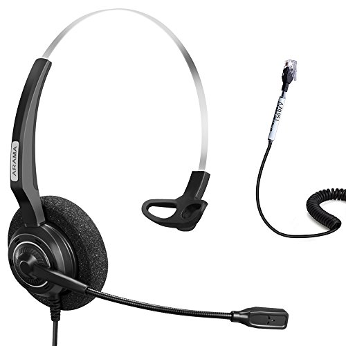 Arama Wired Headset Corded Mono w Noise Cancelling Mikrofon für Aastra  Adtran Alcatel Lucent Allworx AltiGen 74072320b1