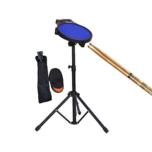 LINGLING-Trommel 12 Zoll Dumm Drum Pad Set Drum Mat Elektronische Metronom Geschenk Junge Mädchen Mit Tasche (Farbe : Blau, größe : Drum+Bracket+Drum Bag) (Jungen-drum-set)