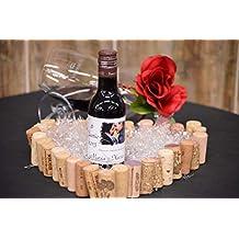 Botella personalizada vino enlace regalo para boda foto novia borde punta (pack de 12 botellas