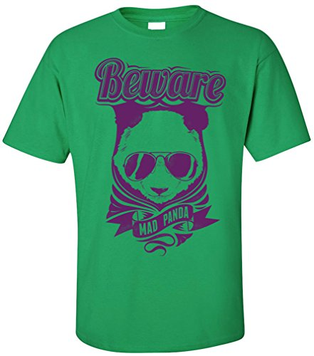 PAPAYANA - BEWARE-OF-PANDA - Herren T-Shirt - CRO HIP HOP POP CHART MUSIC Grün