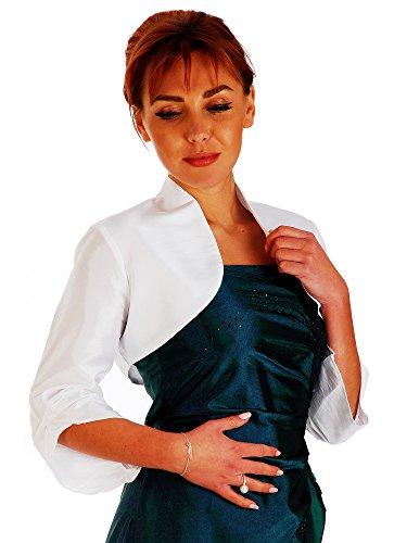 Austen -  Coprispalle  - Camicia - Basic - Maniche a 3/4 - Donna Bianco