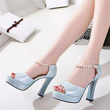 Rtry Femmes Sneakers Confort Pu Doux Toile Informel Confort Plat Blanc Bleu Clair Us9 / Eu40 / Uk7 / Cn41 Us8 / Eu39 / Uk6 / Cn39