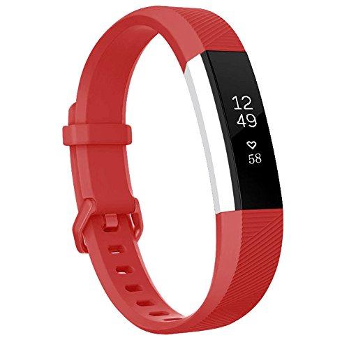 Fitbit Alta HR Bracelet, BeneStellar Remplacement Bracelet pour Accessorie de Fitbit Alta HR (Rouge, Petit)