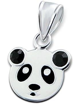 Time4-Charms 925 Silber Anhänger Kinder Panda Bär zur Schule Geburtstag OK160