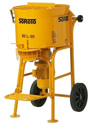 Zwangsmischer Betonmischer 80L SoRoTo Made in Europa