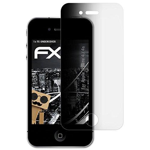 atFolix Blickschutzfilter kompatibel mit Apple iPhone 4 / 4s Blickschutzfolie, 4-Wege Sichtschutz FX Schutzfolie (Iphone 4s Sichtschutz)