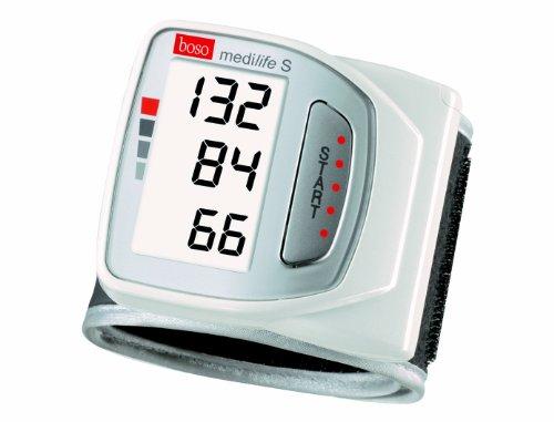 boso medilife S / Handgelenk Blutdruckmessgerät mit 14-Tage-Profil Speicher, extra großem Display und Arrhythmie-Erkennung / Inkl. Handgelenkmanschette (13,5-21,5 cm)