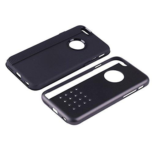 BING Für iPhone 6 Plus / 6s Plus, Cookies Patterns Dual-Layer Tough Armor TPU + PC Kombi-Fall BING ( Color : White ) Black