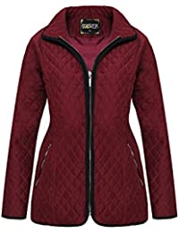 Womens Padded MA1 Diamond Quilted Ladies Jacket Zip Detail Pocket Casual Coat UK