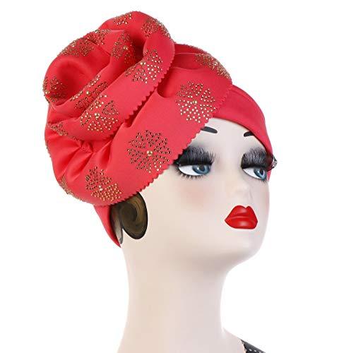 Dicomi Damen Muslimisches Kopftuch Lässig Mode Volltonfarbe Elastisches Frauen Make-up Kappe Schal Kopftuch Hut Rosa (Für Mad Make-up Hatter)