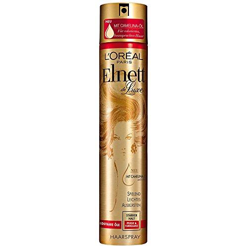 L\'Oréal Paris Elnett de Luxe Precious Color Haarspray, Pflege und Farbglanz 300 ml, 6er Pack (6 x 0.3 l)