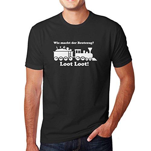 Planet Nerd Beutezug - Herren T-Shirt, Größe M, Schwarz