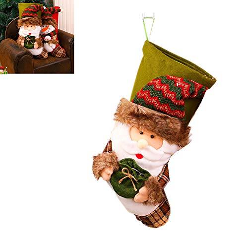Calze da decorazione natalizia decorazioni natalizie, ciondolo albero di natale, calzini grandi, calzini natalizi, borsa singola, calzini da regalo per asilo,a
