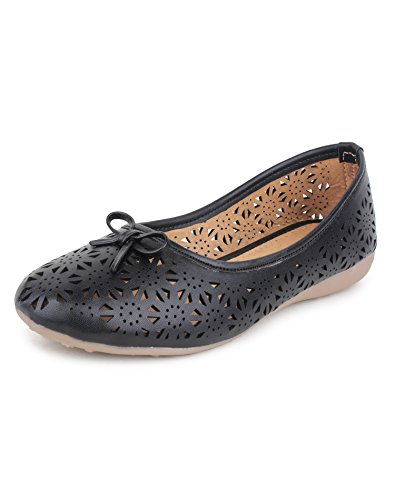 Yahe Women's Casual Napa Leather Flat Belly Shoe Y-38