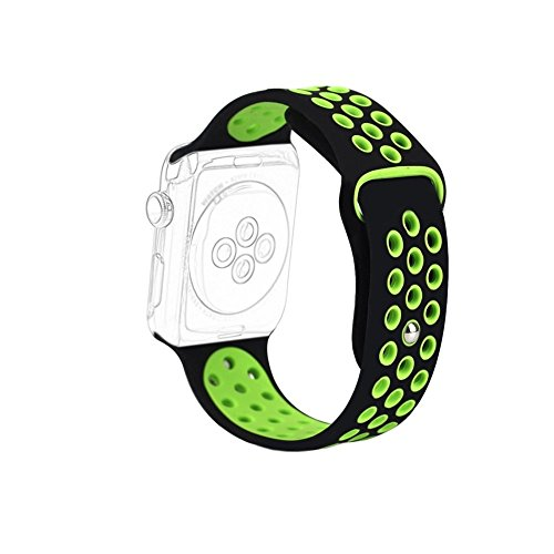 Memore Nike Sport replacement Loop Band for Apple Watch all Models (38mm, Black-Green)  available at amazon for Rs.999