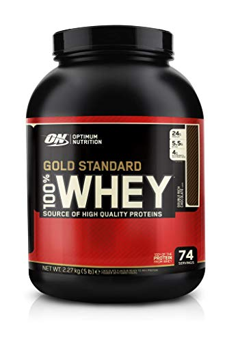 Optimum Nutrition Gold Standard Whey Protein Powder Muscle Building Supplements with Glutamine and Amino Acids, White Chocolate