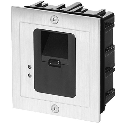 Price comparison product image AE Flush-Mounted Fingerprint Access Controller with External Evaluation Unit, 2 Zones and Power Supply, Waterproof IP65, AE-601Z2
