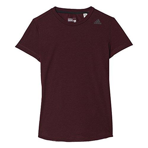 Adidas Damen-T-Shirt Prime Tee S Rot (Granat) (Shirt Damen Granat)