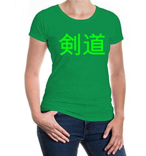 buXsbaum® Girlie T-Shirt Kendo Kellygreen-Neongreen