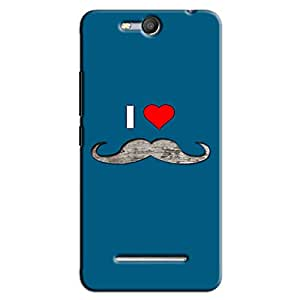 I LOVE MUSTACHE BACK COVER FOR MICROMAX CANVAS JUICE 3