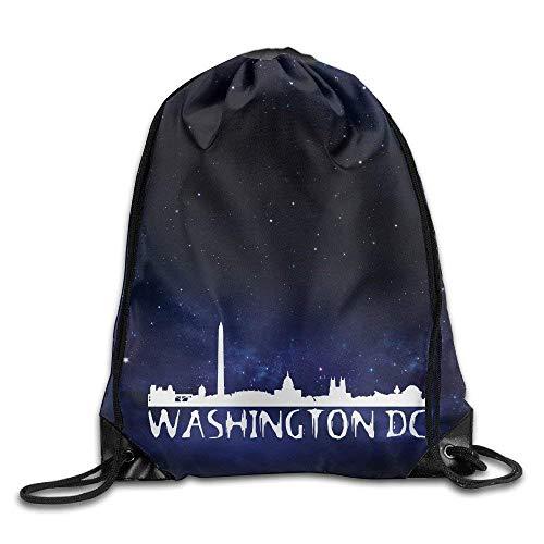 Washington Dc Zoo (HLKPE Washington DC City Skyline Logo Cool Drawstring Backpack String Bag)