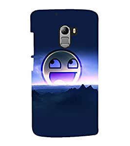 printtech Smiley Meme Back Case Cover for Lenovo Vibe X3 Lite
