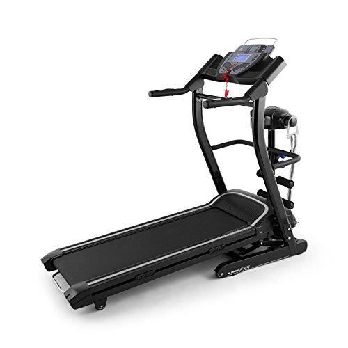 Klarfit Pacemaker FX5 Laufband Heimtrainer (1,5 PS, 12 km/h, Massagegerät, Sit Up Bank, Trainingscomputer, 12 Programme, Lautsprecher, AUX-IN, zusammenklappbar) verschiedene Farben