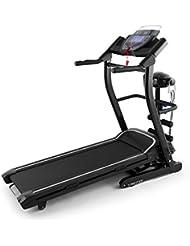 Klarfit Pacemaker FX5 Cinta de correr Negro Gris (1.5 CV, 12 km/h, pulsometro, masaje abdominales, altavoz, AUX, entrenador digital, consumo calorías, variación inclinación, pantalla LCD)