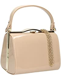 SwankySwans  Medeliene Patent Leather Party, Sac femme