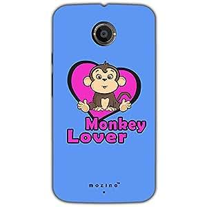 Mozine Monkey Lover Printed Mobile Back Cover For Motorola Moto X 2nd gen