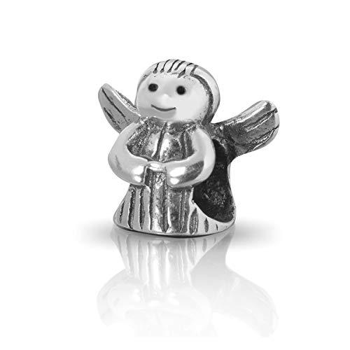 terling Silber Bead Charm * Angel * im Engel Design - Element Kugel für European Beads + Organzasäckchen ()