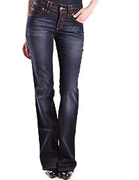 Galliano Damen MCBI130082O Blau Baumwolle Jeans