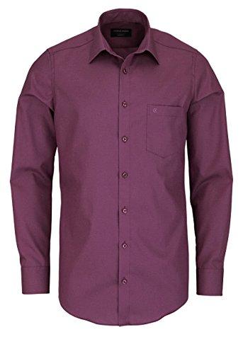 CASAMODA Herren Slim Fit Business Hemd 006550 Violett (Pflaume 950)