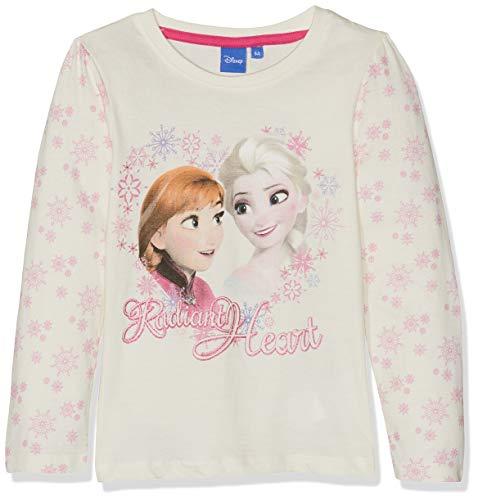 Disney frozen frozen sisters, maglietta a maniche lunghe bambina, white (offwhite 11-0602 tc), 5 anni